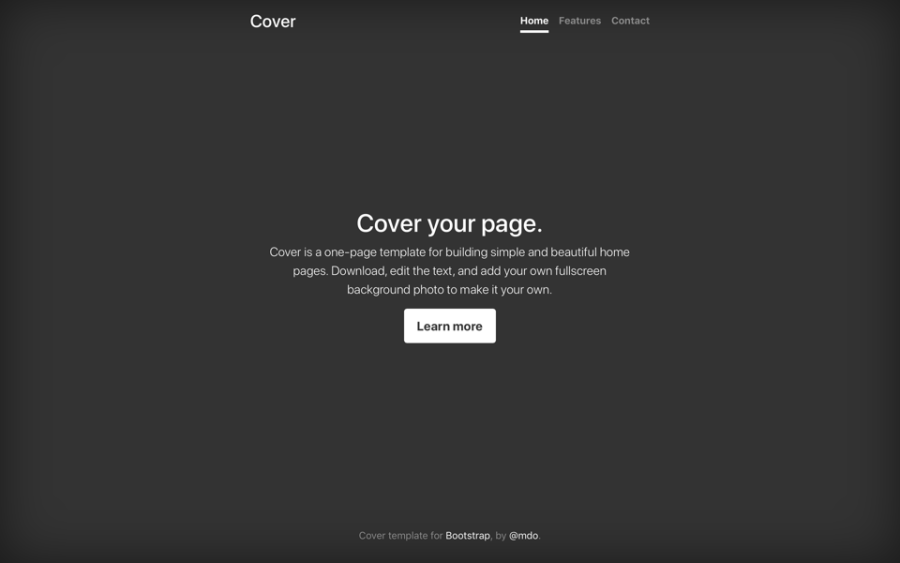 Examples      Bootstrap Cover screenshot