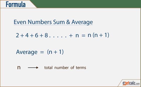 Formula Sum Odd Numbers
