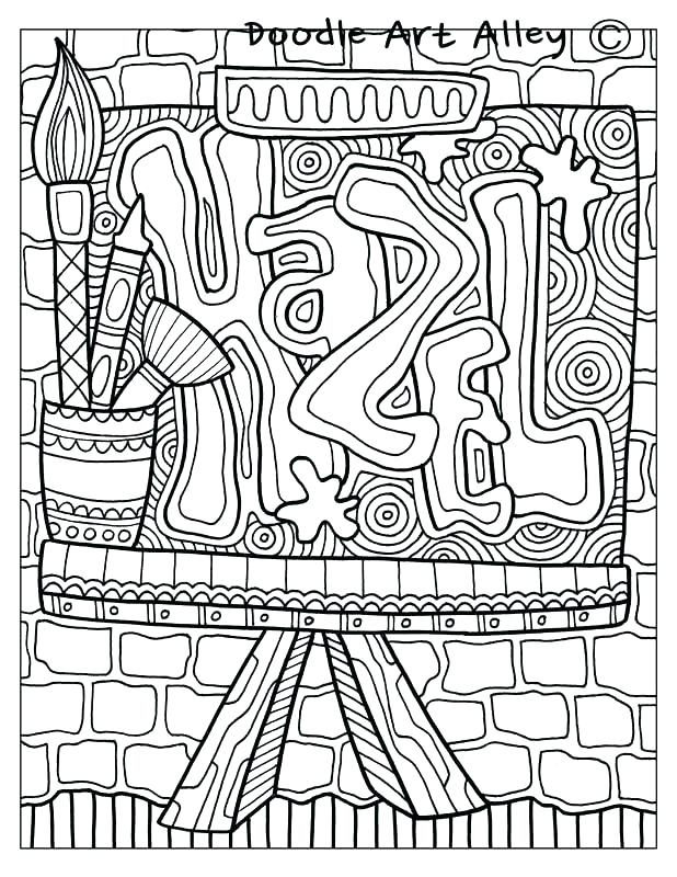 Custom Name Coloring Pages at GetColorings.com | Free ...