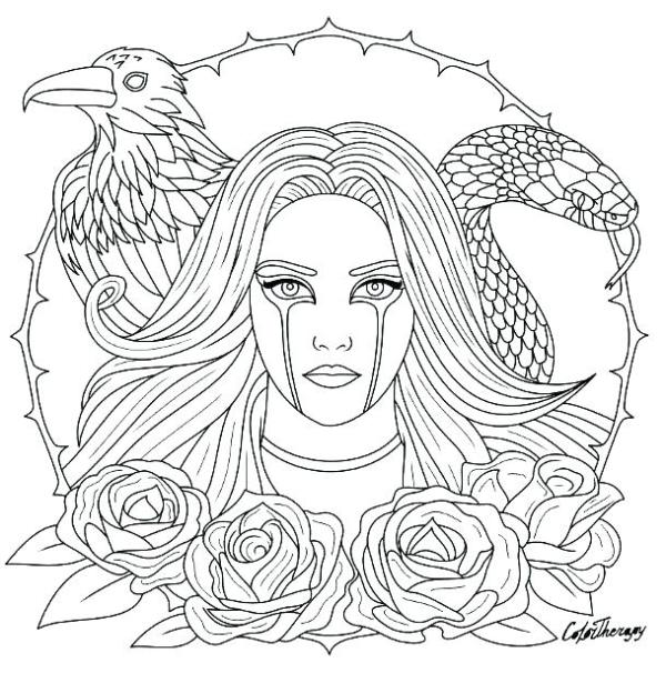 gothic coloring pages # 62