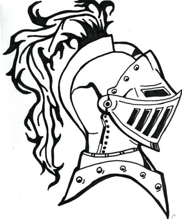 knight coloring page # 52