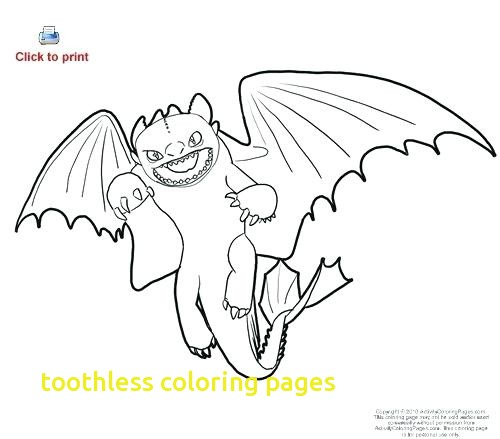 Toothless Night Fury Color Pages Print
