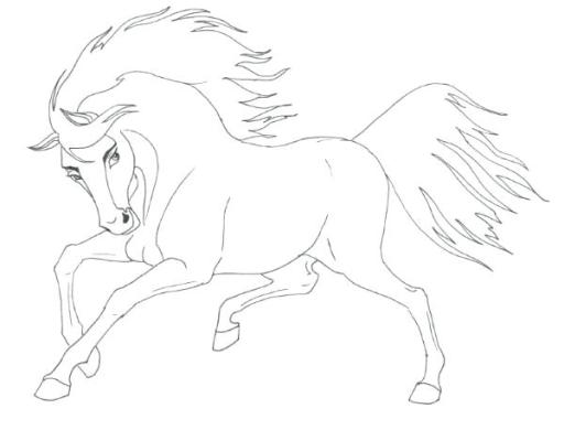 Spirit Horse Coloring Pages at GetColorings com   Free printable     600x457 Coloring Pages Horses Jumping Spirit Horse Printable Also Pr