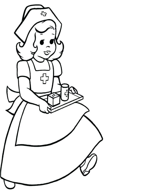 Doctor Ear Checker Coloring Pages Preschoolers