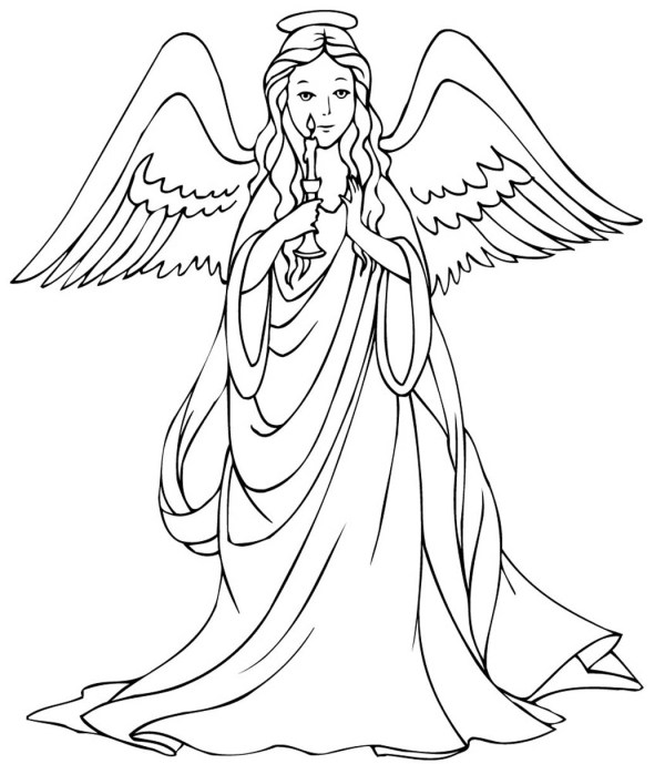angels coloring pages # 46