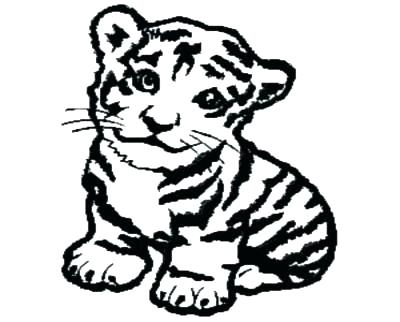 baby tiger coloring pages # 26