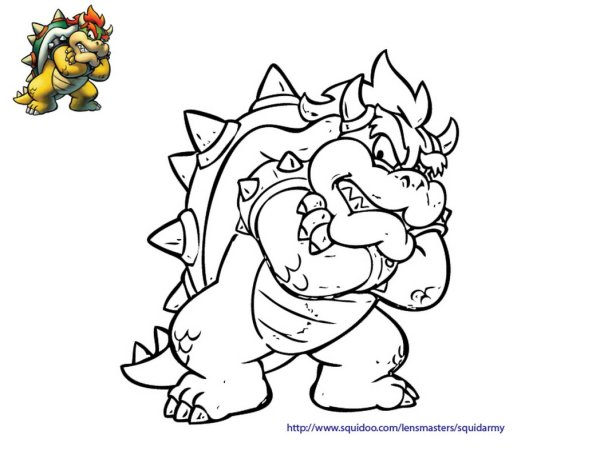 bowser coloring page # 37