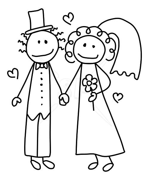 bride and groom coloring pages # 29