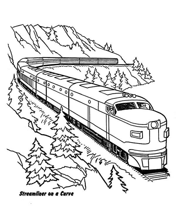 train color pages free printable # 62
