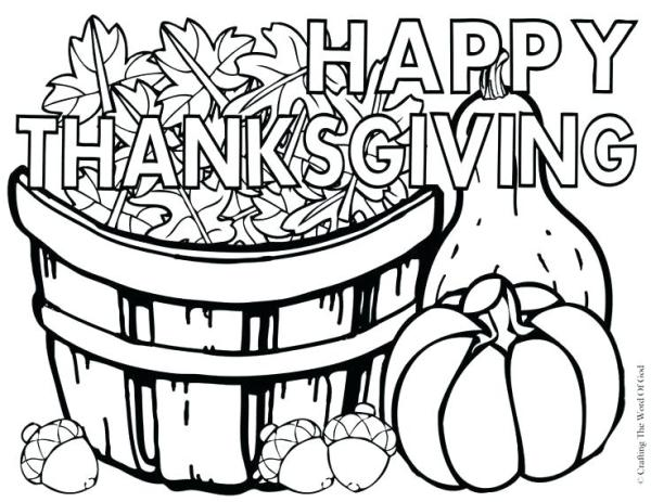 free coloring pages thanksgiving # 43