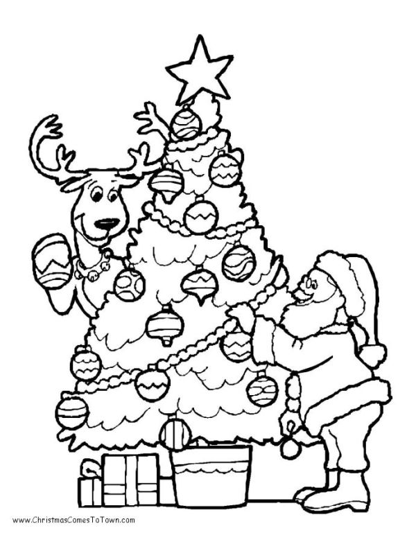 coloring pages of christmas trees # 37