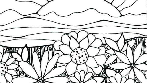 garden coloring page # 46