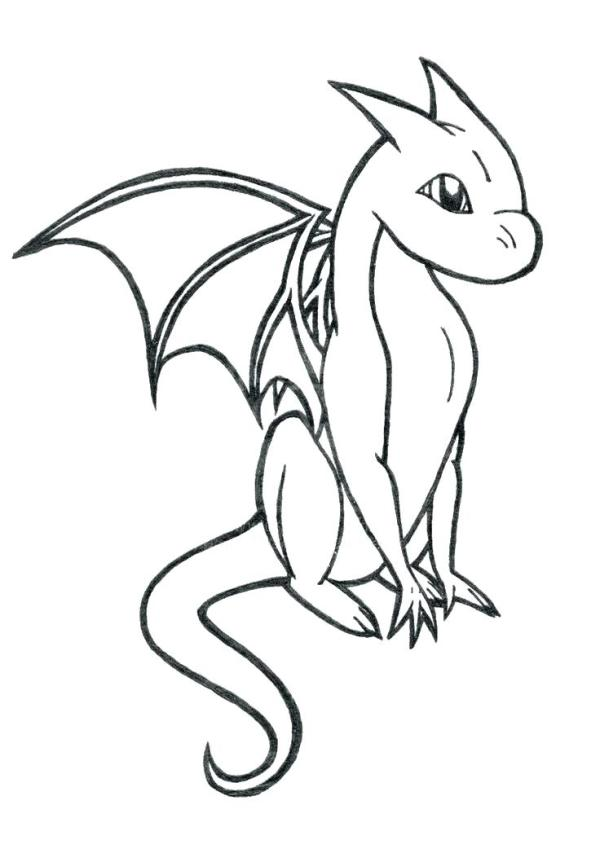 baby dragon coloring pages # 26