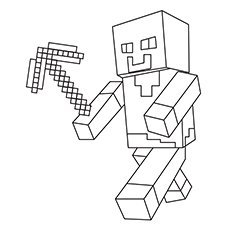 minecraft printable coloring pages # 11
