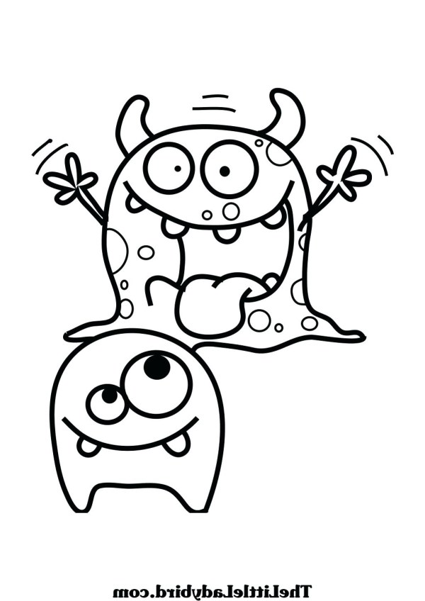 cute monster coloring pages # 65