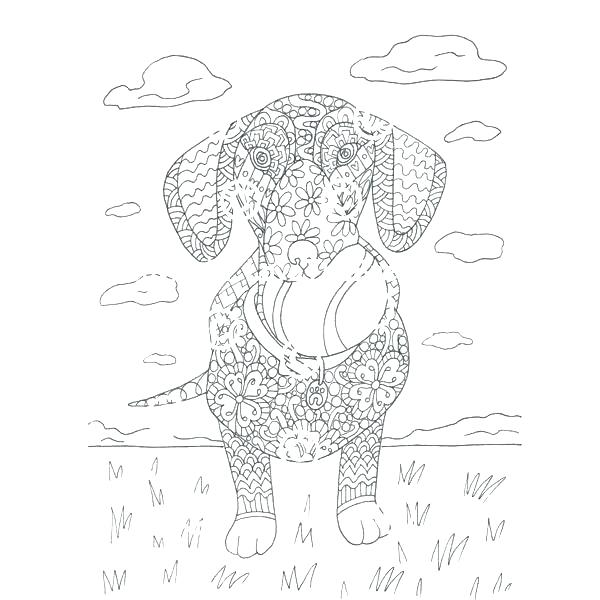dachshund coloring pages # 28