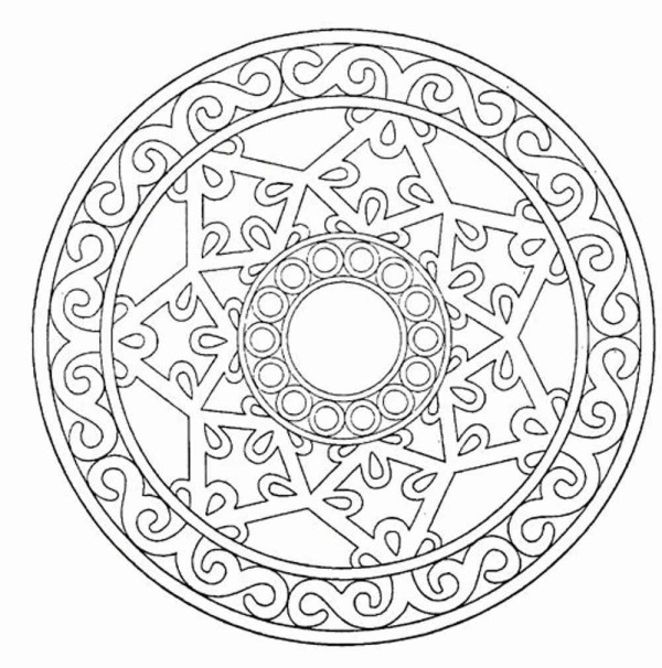 free mandala coloring pages for adults # 40
