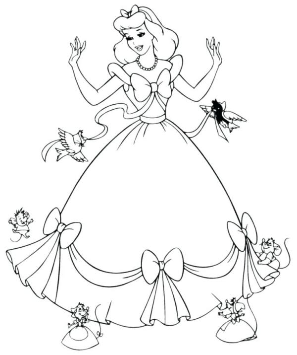 printable disney princess coloring pages # 35
