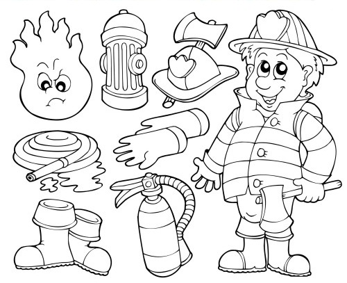 fireman coloring page # 65