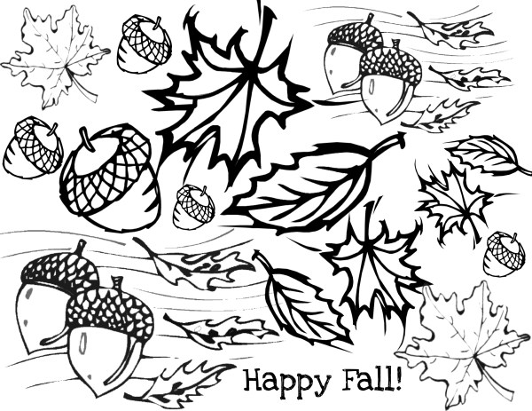 free fall coloring pages printable # 14