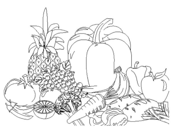 fruit and vegetable coloring pages # 69