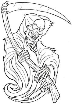 grim reaper coloring pages # 26