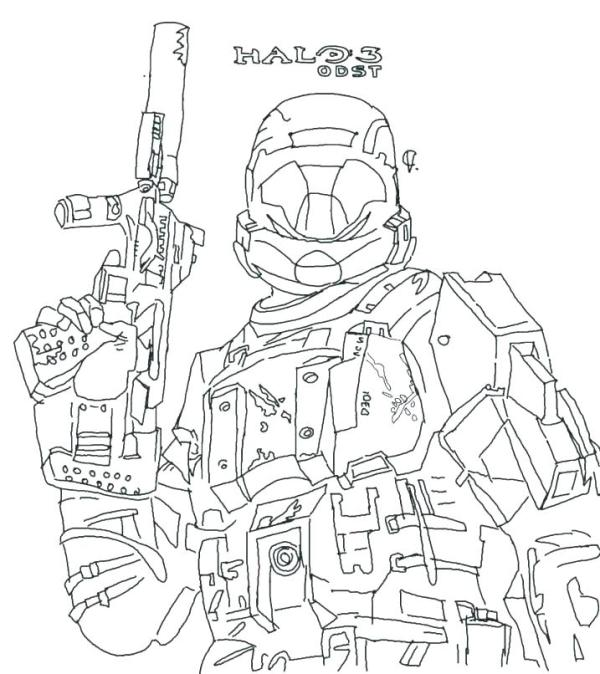 coloring pages halo # 65