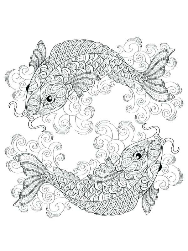 koi fish coloring pages # 25