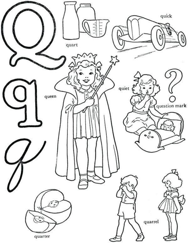 letter q coloring page # 47