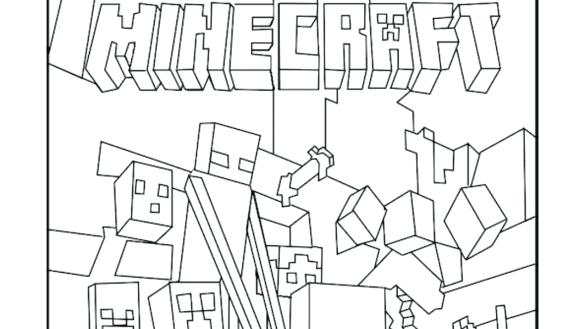 minecraft printable colouring sheets # 11