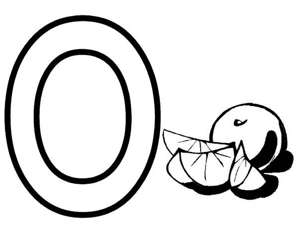 letter o coloring pages # 72