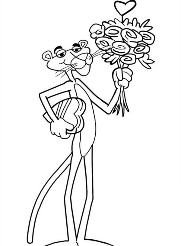 pink panther coloring pages # 83