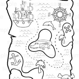 treasure map coloring pages # 57