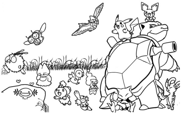 pokeman coloring pages # 28