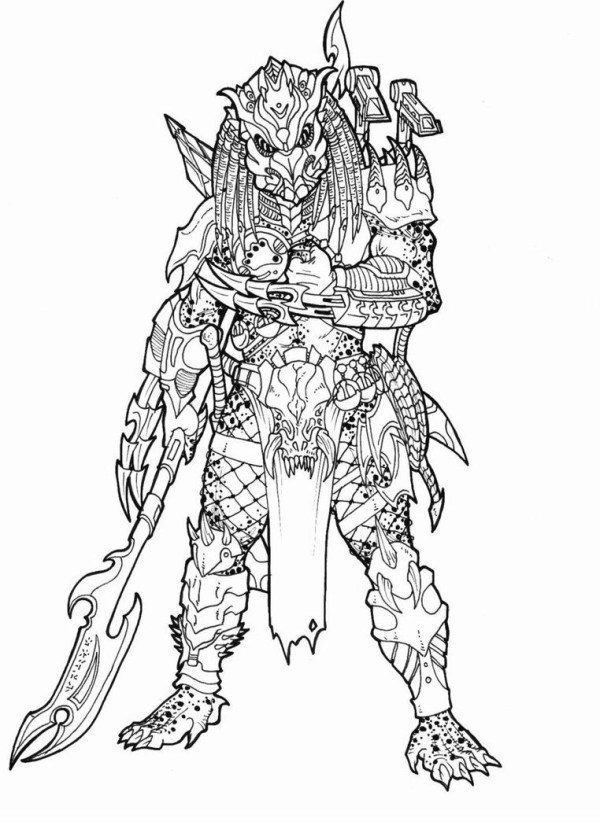 predator coloring pages # 32