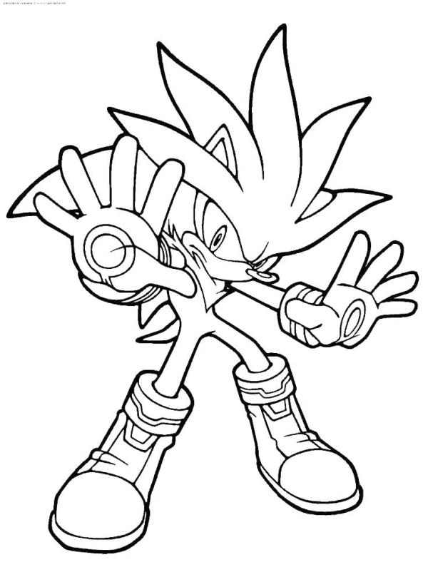 sonic coloring pages printable # 22
