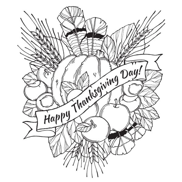 thanksgiving color pages free # 76