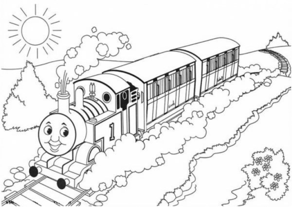 train color pages free printable # 29