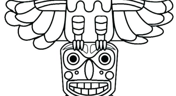 totem pole coloring pages # 27