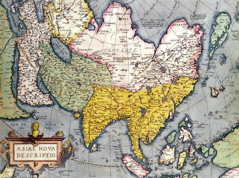 Asia Map Drawing at GetDrawings com   Free for personal use Asia Map     900x670 Antique Map Of Asia Drawing by Claes Jansz