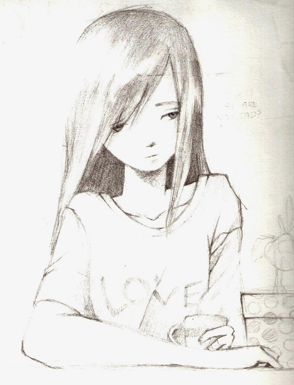 Crying Anime Girl Drawing at GetDrawings.com | Free for ...