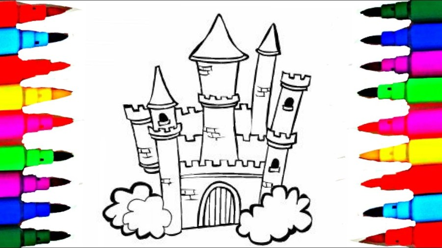 Disney Drawing Pages at GetDrawings com   Free for personal use     1280x720 Inspiring Castle And Princess Coloring Pages Free Printable