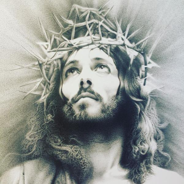 Face Of Jesus Drawing at GetDrawings com   Free for personal use     900x900 Jesus Drawing by Giampiero Damanias
