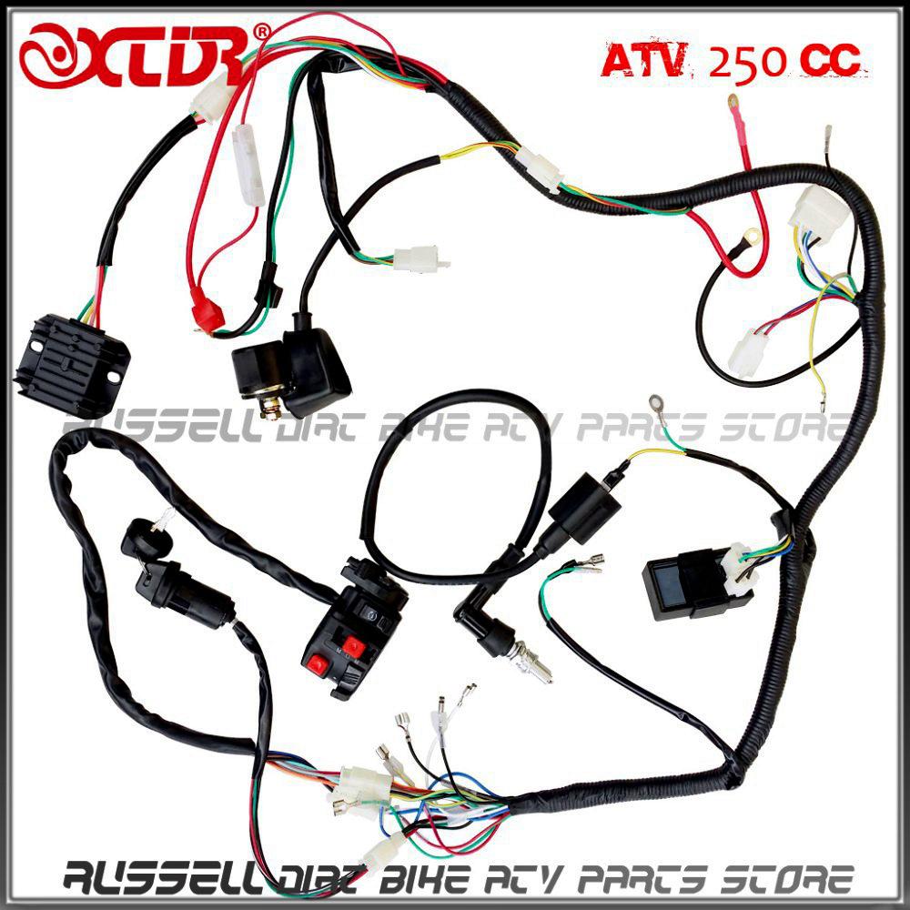 1000x1000 plete electrics wiring harness atv quad 4 wheeler 200cc 250cc
