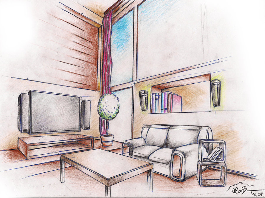 Interior Drawing at GetDrawings com   Free for personal use Interior     900x671 interior drawing 1 by sloeb on DeviantArt
