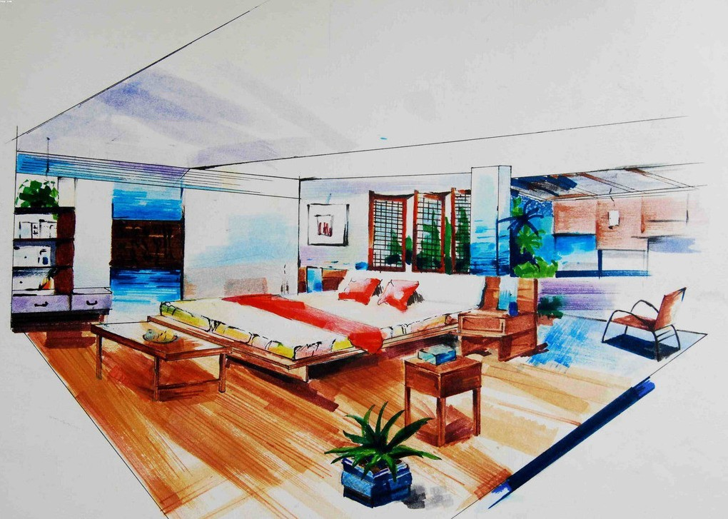 Interiors Drawing at GetDrawings com   Free for personal use     1020x727 Emejing Interior Designers Drawings Images