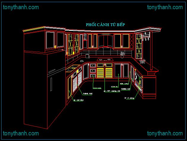 Drawings Autocad Design Kitchen Interior