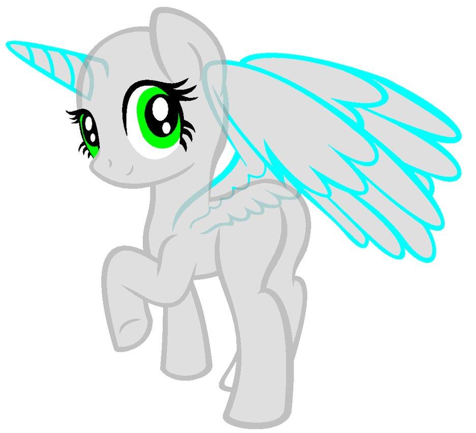 Mlp Filly Alicorn Base Flying