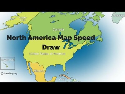 North America Map Drawing at GetDrawings com   Free for personal use     480x360 How To Draw Map Of North America