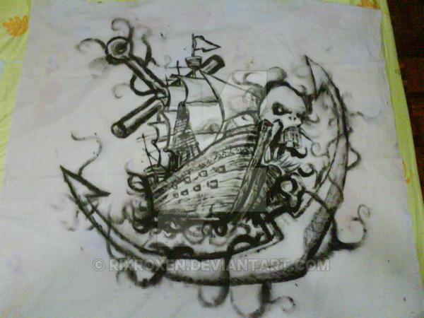 Pencil Drawings Pirate Flag